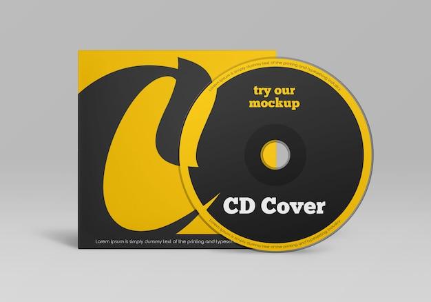 Design de maquete de capa de disco cd