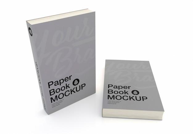 Design de maquete de capa de livro de capa dura isolado