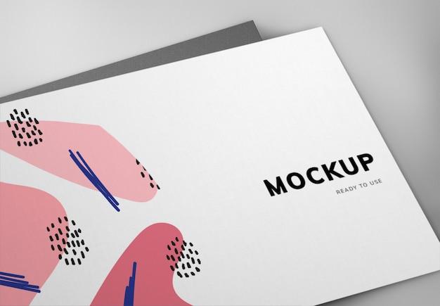 Design de maquete de cartão colorido