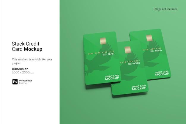 Design de maquete de cartão de crédito de pilha