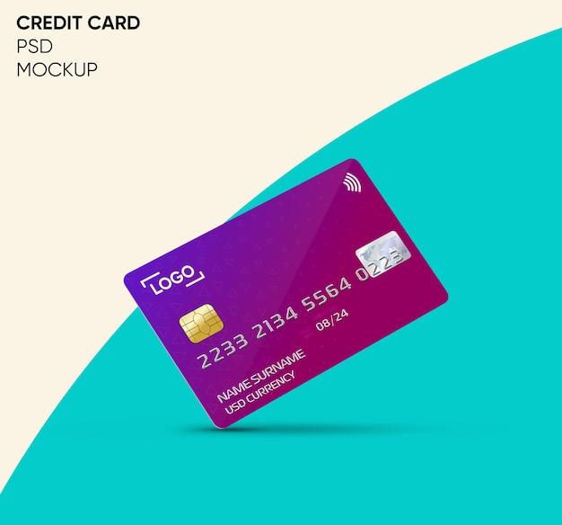 Design de maquete de cartão de crédito