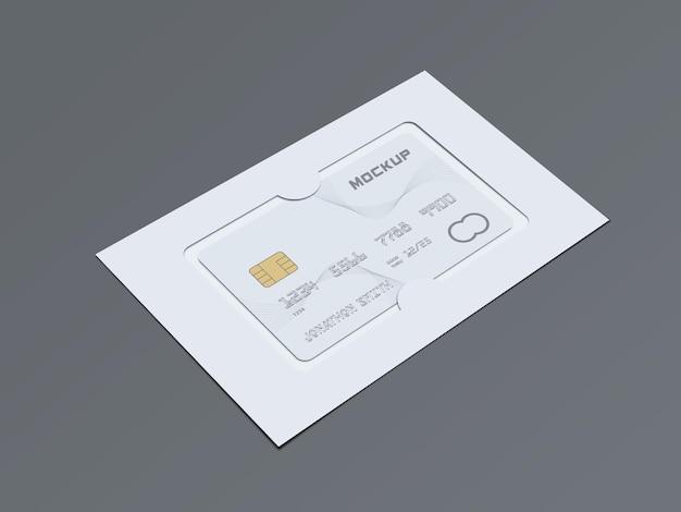 Design de maquete de cartão de débito de plástico