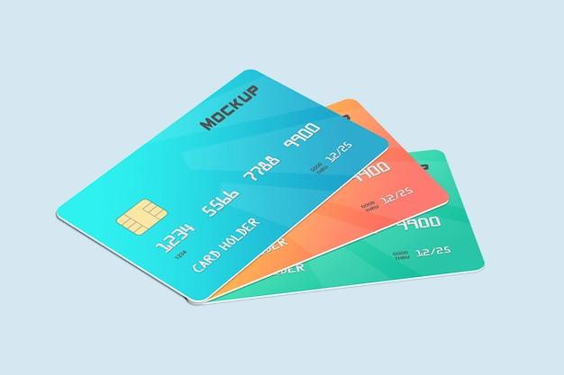 Design de maquete de cartão de débito