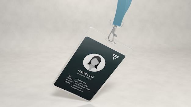 Design de maquete de cartão de identificação