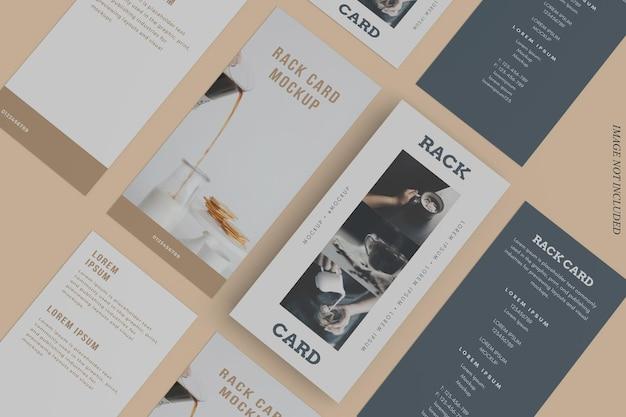 Design de maquete de cartão de rack em renderização 3d