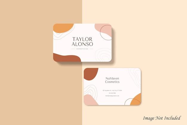 Design de maquete de cartão de visita arredondado