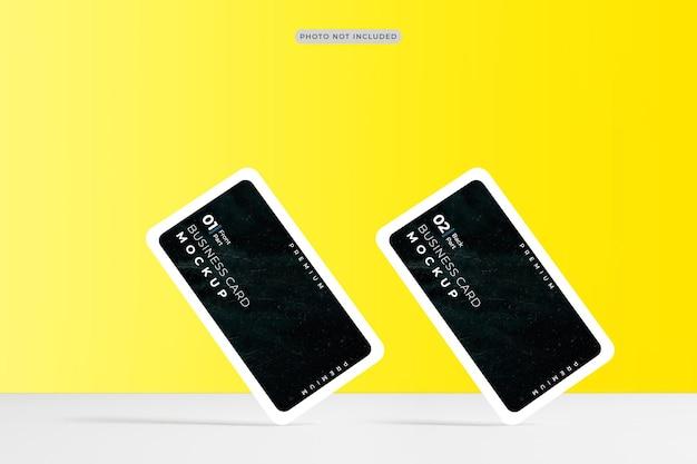 Design de maquete de cartão de visita com cantos arredondados