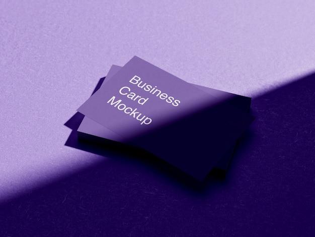 Design de maquete de cartão de visita criativo