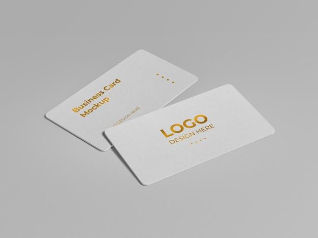 Design de maquete de cartão de visita de luxo com cantos arredondados