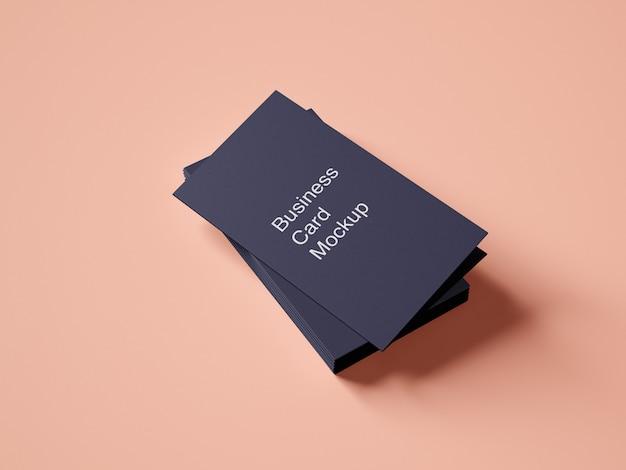 Design de maquete de cartão de visita de pasta com um pacote