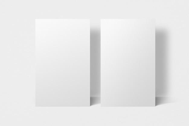 Design de maquete de cartão de visita em branco