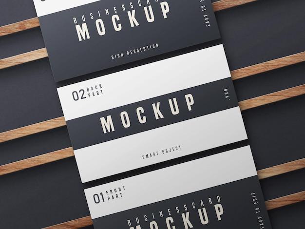 Design de maquete de cartão de visita em preto e branco