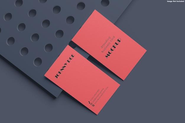 Design de maquete de cartão de visita em renderização 3d