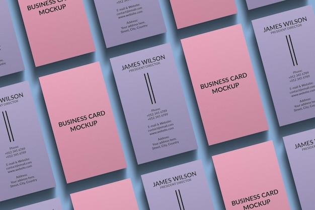 Design de maquete de cartão de visita vertical