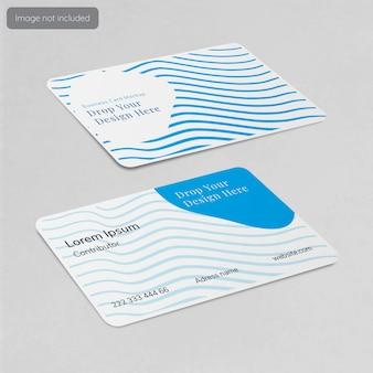 Design de maquete de cartão de visita