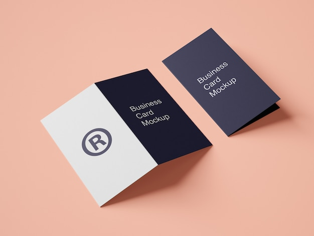 Design de maquete de cartão moderno pasta