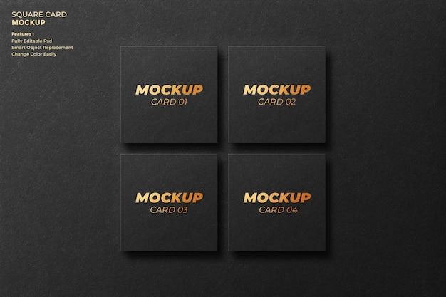 Design de maquete de cartão quadrado em renderização 3d