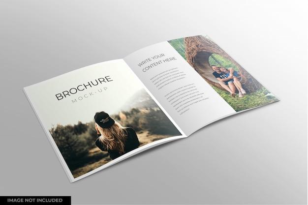 Design de maquete de catálogo ou revista aberta
