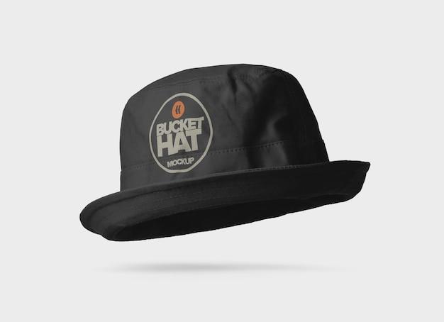 Design de maquete de chapéu de balde de tecido
