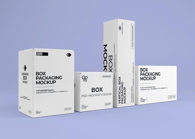 Design de maquete de coleção de caixa