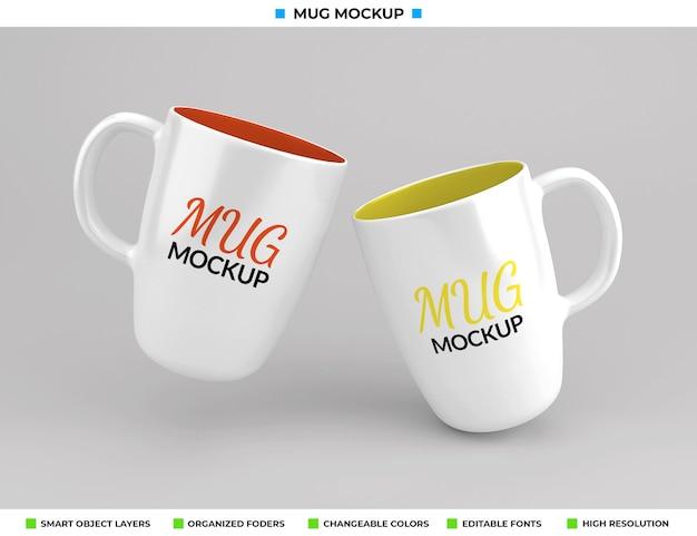 Design de maquete de copo de café ou chá