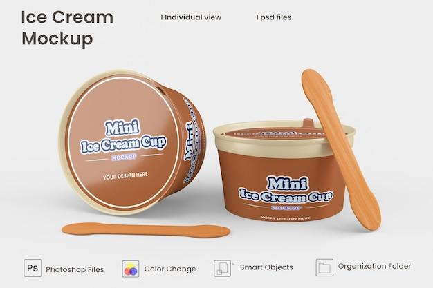 Design de maquete de copo de sorvete
