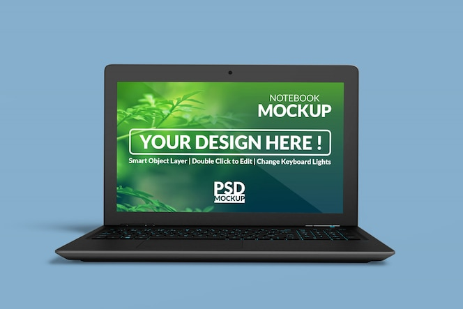Design de maquete de dispositivo digital de notebook