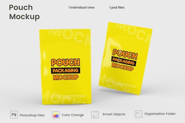 Design de maquete de embalagem de bolsa