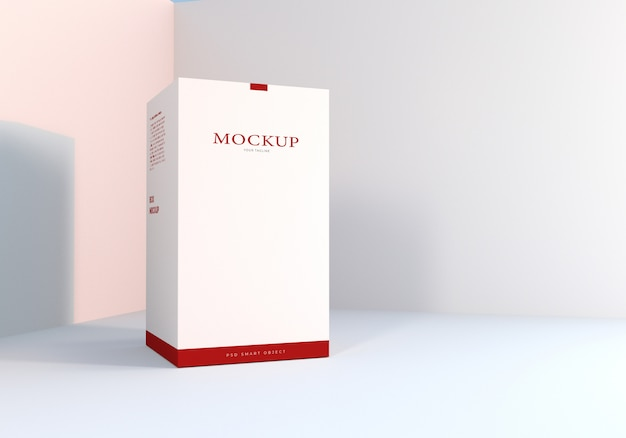 Design de maquete de embalagem de caixa branca