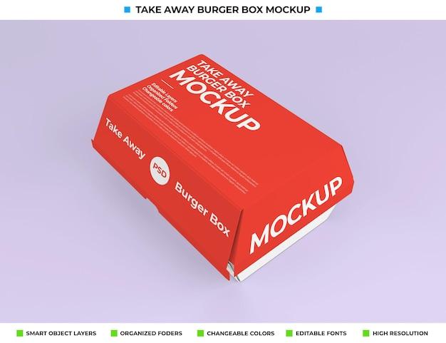 Design de maquete de embalagem de caixa de comida para levar