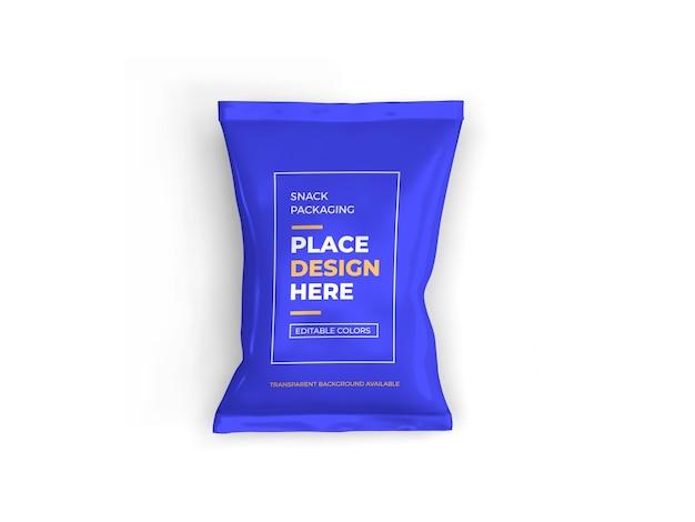 Design de maquete de embalagem de lanche isolado