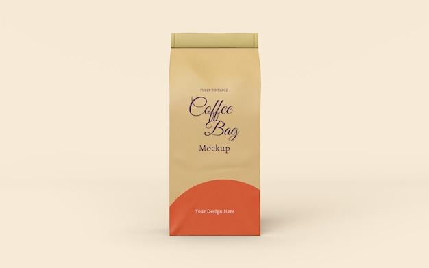 Design de maquete de embalagem de saco de café