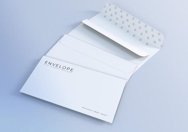 Design de maquete de envelope de papelaria