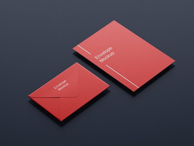 Design de maquete de envelope e papel timbrado