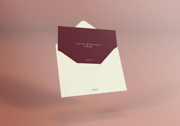 Design de maquete de envelope elegante realista