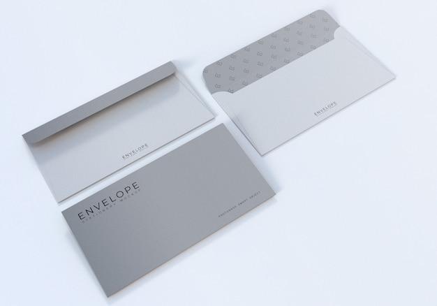Design de maquete de envelope fotorrealista