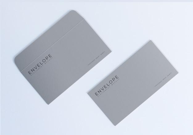Design de maquete de envelope monarca limpo