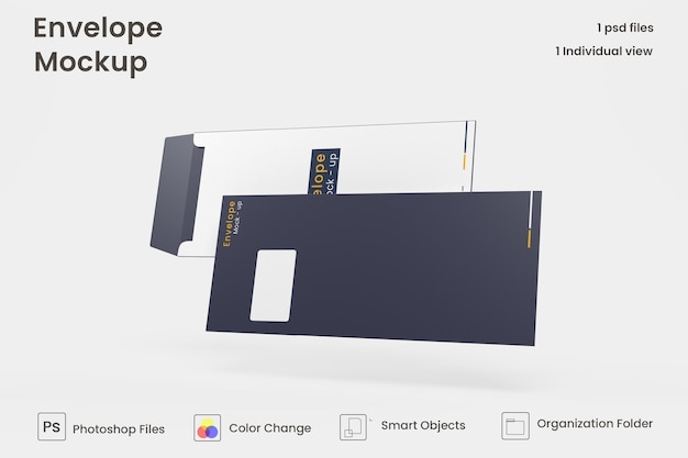 Design de maquete de envelope premium psd