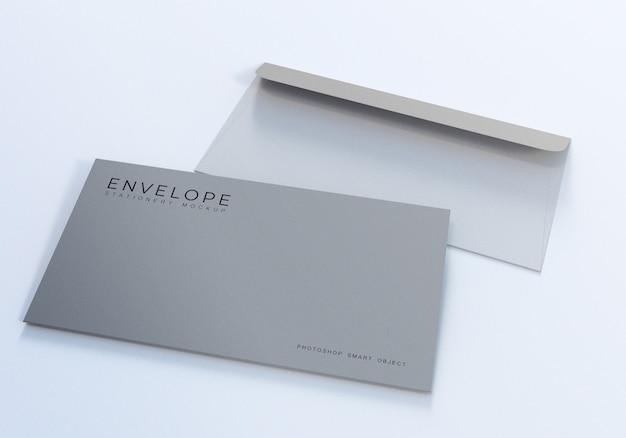 Design de maquete de envelope simples monarca de escritório