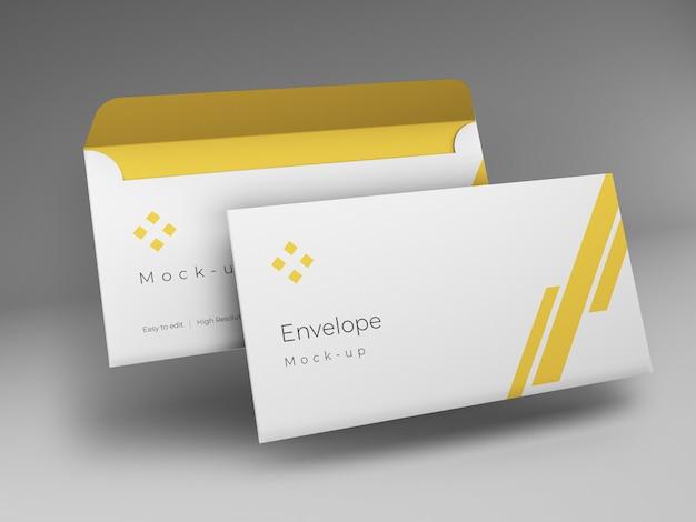 Design de maquete de envelope