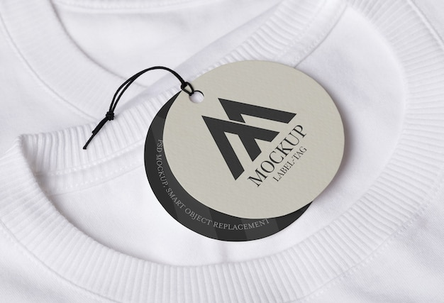 Design de maquete de etiqueta de etiqueta
