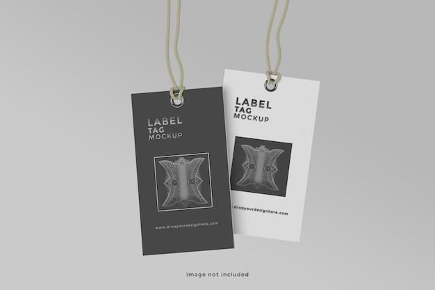 Design de maquete de etiqueta flutuante