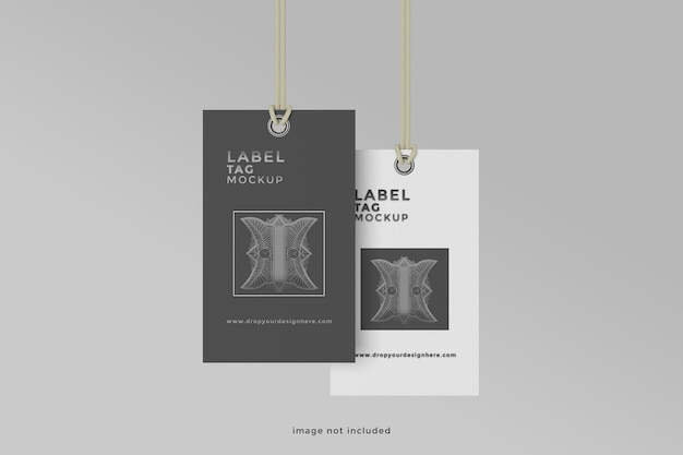 Design de maquete de etiqueta suspensa