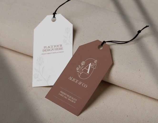 Design de maquete de etiqueta
