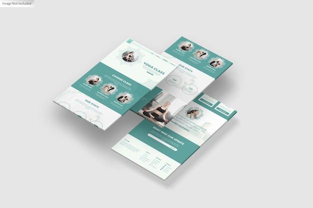 Design de maquete de exibição 3d da web
