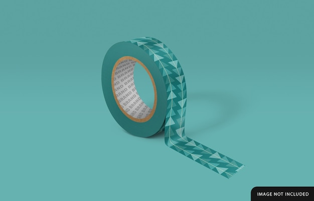 Design de maquete de fita adesiva decorada