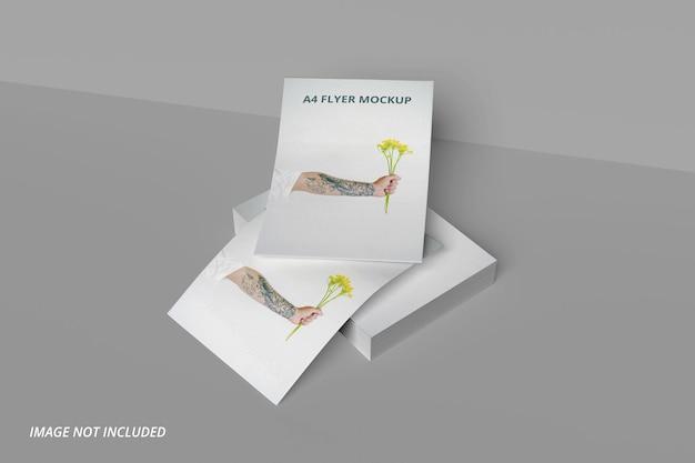 Design de maquete de folha de papel a4 premium psd