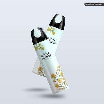 Design de maquete de frasco cosmético de plástico