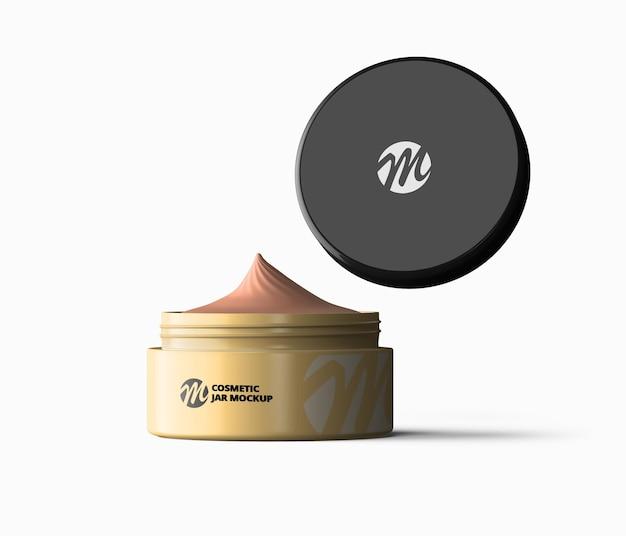 Design de maquete de frasco de creme cosmético isolado