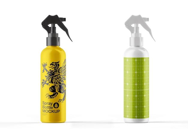 Design de maquete de frasco spray colorido brilhante